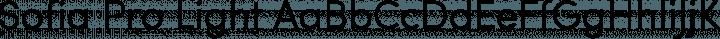 Sofia Pro Light free font
