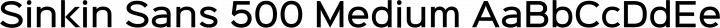 Sinkin Sans 500 Medium free font