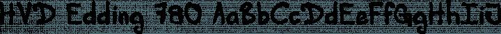 HVD Edding 780 font family by HVD Fonts