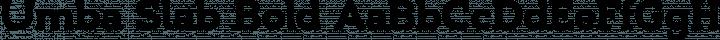 Umba Slab Bold free font