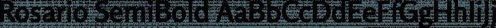 Rosario SemiBold free font