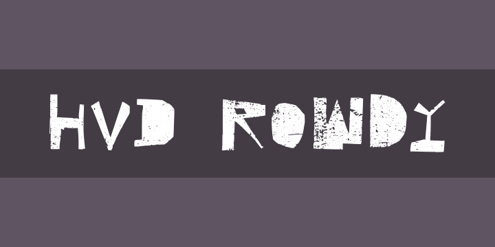 HVD Rowdy Font Free by HVD Fonts » Font Squirrel