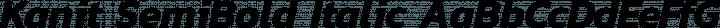 Kanit SemiBold Italic free font