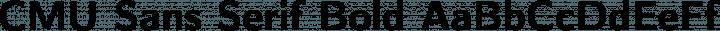 CMU Sans Serif Bold free font