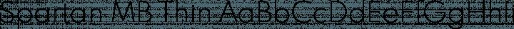 Spartan MB Thin free font