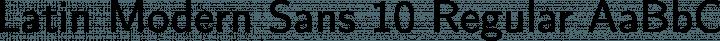 Latin Modern Sans 10 Regular free font