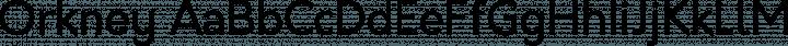 Orkney Regular free font