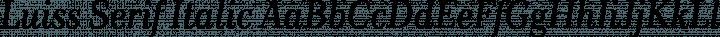 Luiss Serif Italic free font