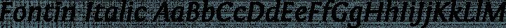 Fontin Italic free font