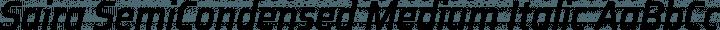 Saira SemiCondensed Medium Italic free font