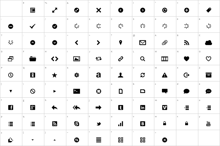 Web Symbols Font Free By Just Be Nice Studio Font Squirrel