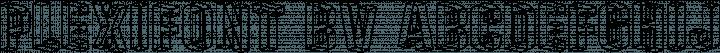 Plexifont BV Regular free font