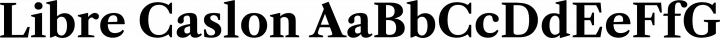Libre Caslon font family by Impallari Type