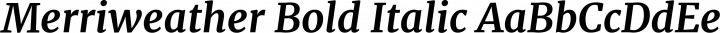 Merriweather Bold Italic free font