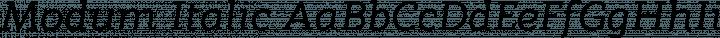 Modum Italic free font