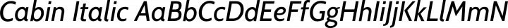 Cabin Italic free font