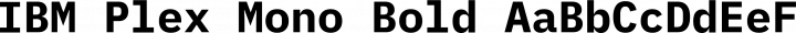 IBM Plex Mono Bold free font