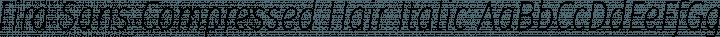 Fira Sans Compressed Hair Italic free font