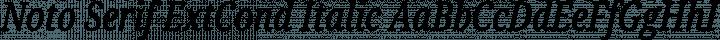Noto Serif ExtCond Italic free font