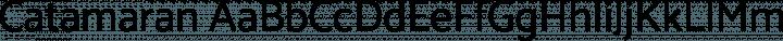 Catamaran Regular free font