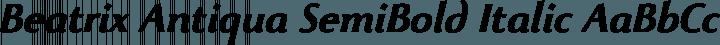 Beatrix Antiqua SemiBold Italic free font