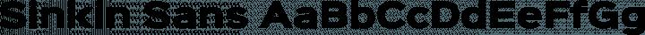 Sinkin Sans font family by K-Type