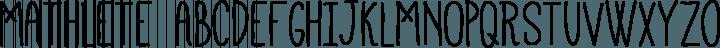 Mathlete font family by Mattox
