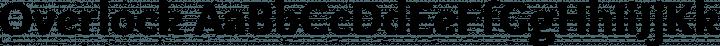 Overlock font family by Dario Manuel Muhafara