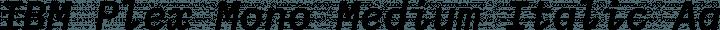 IBM Plex Mono Medium Italic free font