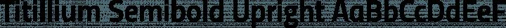 Titillium Semibold Upright free font
