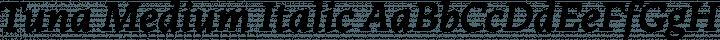 Tuna Medium Italic free font