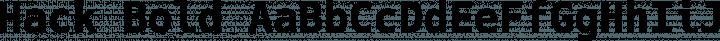 Hack Bold free font