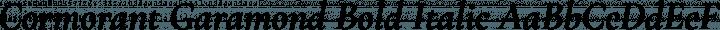 Cormorant Garamond Bold Italic free font