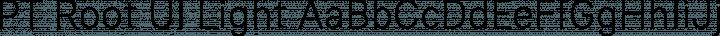 PT Root UI Light free font