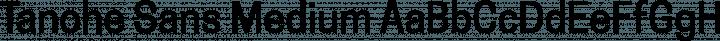 Tanohe Sans Medium free font