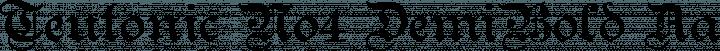 Teutonic No4 DemiBold free font