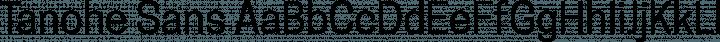 Tanohe Sans Regular free font