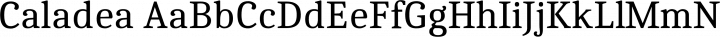 Caladea Regular free font