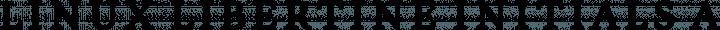 Linux Libertine Initials free font
