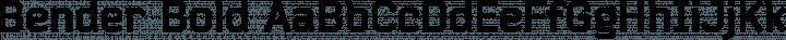 Bender Bold free font