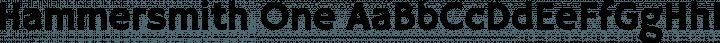 Hammersmith One Regular free font