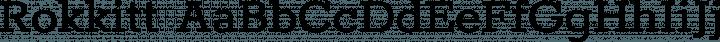 Rokkitt font family by Vernon Adams