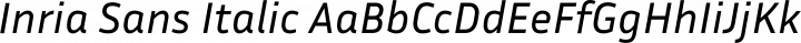 Inria Sans Italic free font