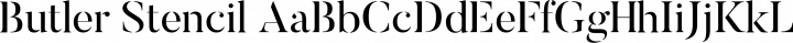 Butler Stencil Regular free font
