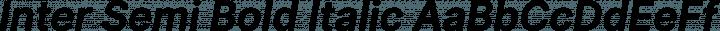 Inter Semi Bold Italic free font