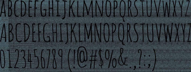 typographie amatic