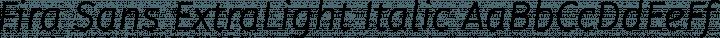 Fira Sans ExtraLight Italic free font