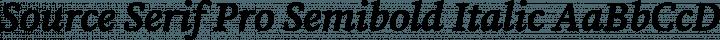 Source Serif Pro Semibold Italic free font