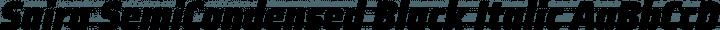 Saira SemiCondensed Black Italic free font