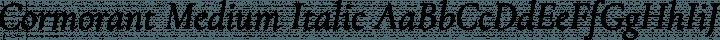 Cormorant Medium Italic free font
